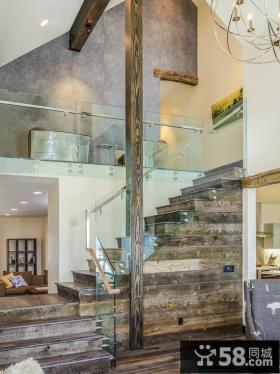 家装原木楼梯设计
