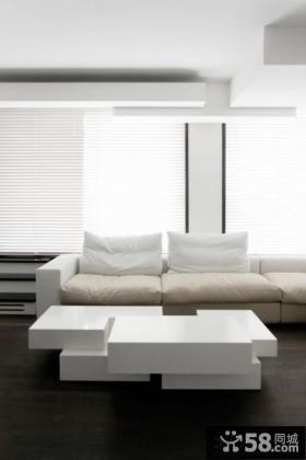 白色简约风格家具图