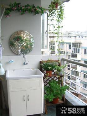 小户型阳台洗衣机装修效果图大全2013图片