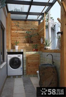 小户型阳台洗衣机装修效果图