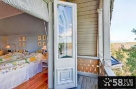 简单卧室阳台装修效果图