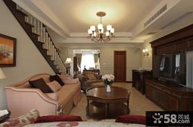 美式风格小别墅客厅