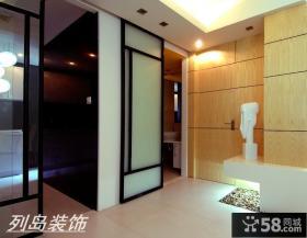 现代风格房间隐形门效果图