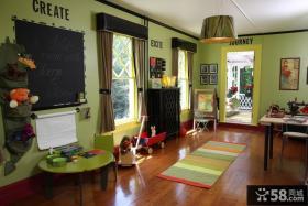 儿童房改书桌吊顶装修效果图