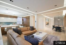 90平米小户型时尚室内客厅装修效果图大全2012图片