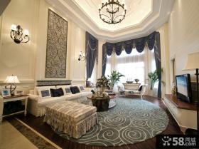 欧式地中海风格别墅客厅吊顶效果图