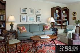 9万打造田园地中海风格小户型客厅装修效果图大全2014图片