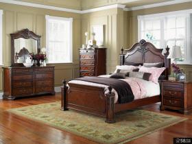 美式风格卧室红木家具摆放图片