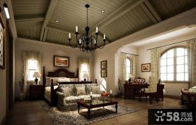 托斯卡纳风格别墅主卧室装修效果图大全2014图片