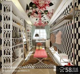 欧式风格家庭衣架鞋柜装修效果图