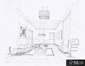 小别墅客厅平面效果图