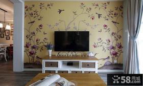 简约电视背景墙家居装饰效果图