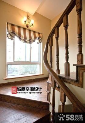 美式楼梯间装修效果图图片