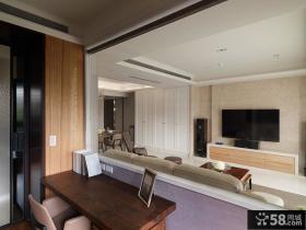 现代风格客厅简易电视背景墙设计
