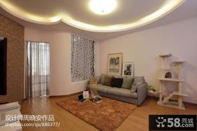 现代风格家庭客厅吊顶装修效果图