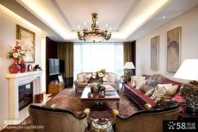 美式家装客厅吊顶装修设计图