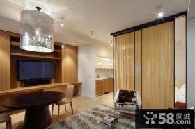 2012优质四居室卧室电视背景墙装修效果图大全2012图片