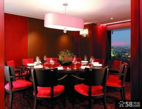 美式餐厅背景墙设计效果图