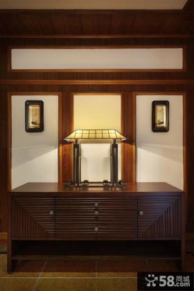 欧式古典卧室灯具摆放图片