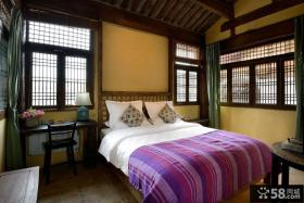 中式仿古风格卧室装修图片