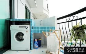 阳台洗衣机装修设计图片