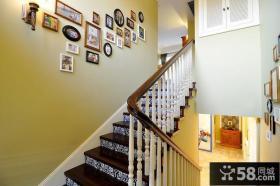 楼梯墙壁照片墙装饰案例