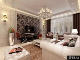 优质欧式客厅电视背景墙装修效果图大全2012图片