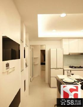 白色简约风格两室一厅装修图