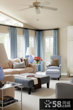 9万打造浪漫温馨欧式小户型客厅装修效果图大全2014大全