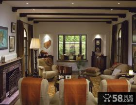 80平米小户型欧式客厅装修效果图 低调内敛