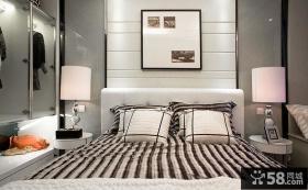 现代风格卧室床头装饰画效果图片
