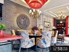 时尚中式别墅室内装修设计效果图