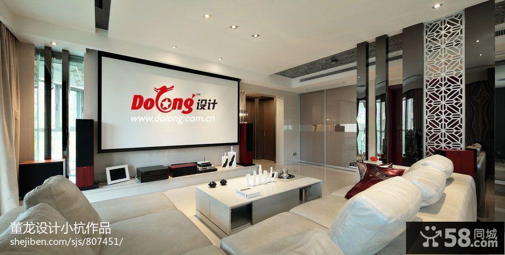 现代风格简约最新客厅影视墙设计