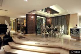 欧式豪华别墅西餐厅设计效果图欣赏大全