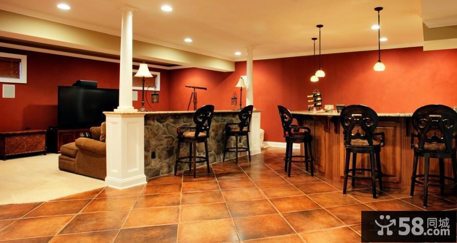美式风格别墅地下室装修图片