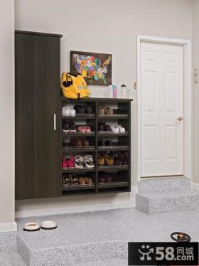 入门处实木鞋柜设计