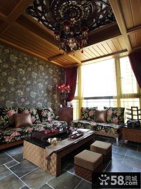 欧式客厅吊顶造型图