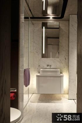 现代浪漫的90平米小户型卫生间装修效果图大全2014图片