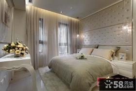 欧式家居风格卧室样板间效果图