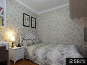 美式风格墙纸卧室装修效果图