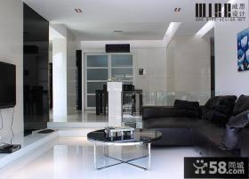 现代80平米小户型挑高客厅装修效果图