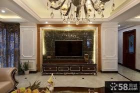 古典装饰客厅电视背景墙图片