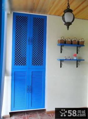 地中海风格家装鞋柜图片欣赏