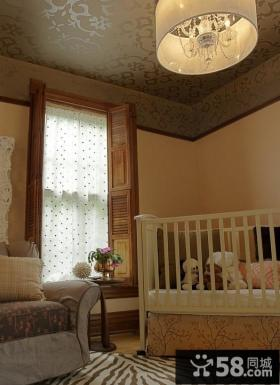 儿童房装修效果图 美式经典儿童房吊顶装修