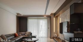 现代客厅不吊顶装修效果图