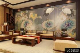 美式沙发背景墙装饰画