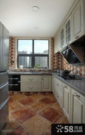 美式田园风格小厨房装修设计图片欣赏