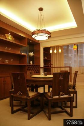 中式风格餐厅吊顶灯装修效果图