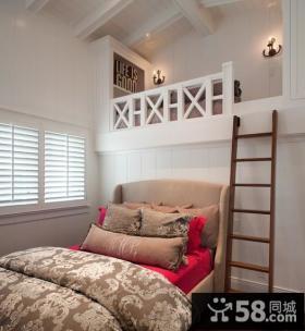 欧式复式楼卧室装修效果图大全2014图片
