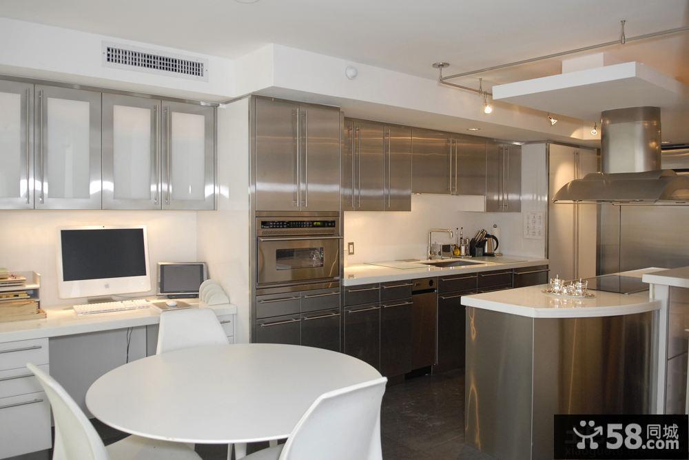 不锈钢厨房装修效果图